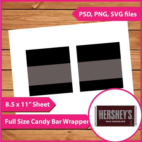 Instant Download Hershey Candy Bar Wrapper Template PSD PNG