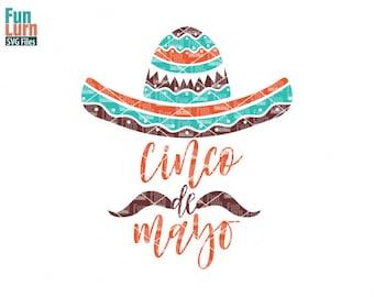 Cinco De Mayo svg, Sombrero svg, mustache, Fiesta, Spanish, flourish, swirl, intricate, swirls,mexican hat, sombrero SVG png dxf eps
