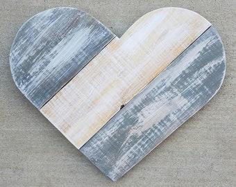 Large Wood Pallet Heart | Heart | Wood Pallet Heart | Wood Heart | Large Heart | Grey Heart | Pallet Heart
