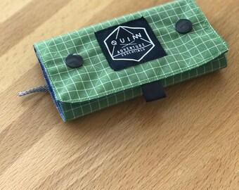 Fly Fishing Wallet Bag- Dyneema Gridstop - Double Snap Closure - Modern design - Handmade in California