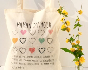 Tote bag love MOM - mother's day