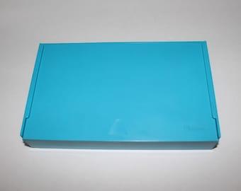 Vintage Medical Test Kit Box, Upjohn Medical Test Kit Plastic Empty Box, Pharmaceutical Kit Box, Blue Plastic Box