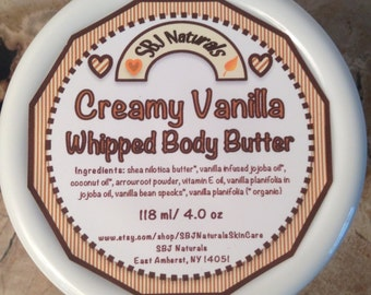 Skin: Creamy Vanilla Whipped Body Butter - Sm 4 oz // gift for her