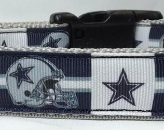 Dallas Cowboys Dog Collar - NFL Dog Collar -  FREE Shipping