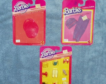 Vintage Barbie Clothing And Accessories Lot MOC X 3 ******1980's***** Rare 83
