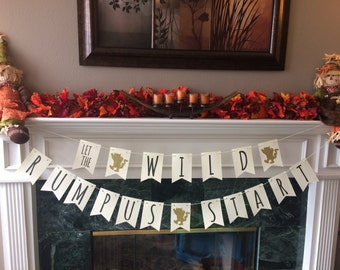 Where the Wild Things Are Birthday Banner // First Birthday // Let the Wild Rumpus Start