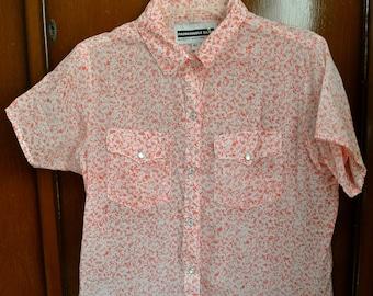 Vintage Panhandle Slim Shirt Girls Short Sleeve