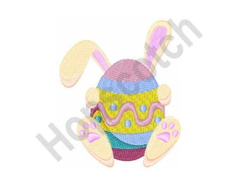 Easter Bunny Egg - Machine Embroidery Design