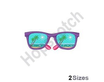 Sun Glasses Beach - Machine Embroidery Design