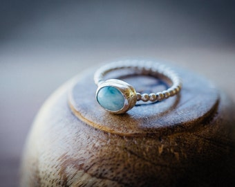 Larimar stack ring