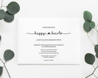 Wedding Invitations, Printable Wedding Invitations, Printable Invitation Set, Wedding Invitation Set, Invitation Set, DIY Invitations