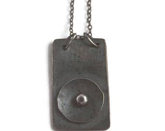 Baptisia  *  Oxidized Sterling Silver Hand Wrought Artisan Pendant Necklace