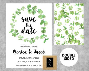 Save The Date Cards, Wedding Stationary, Wedding Announcement, Wedding Invitations, Printable, cottage wedding, floral wedding, watercolor,