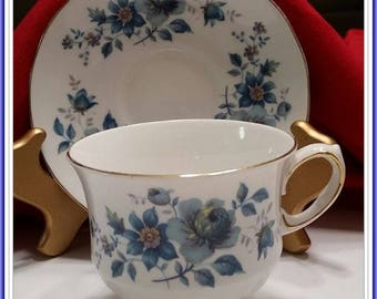 Vintage Queen Anne  Bone China  Tea Cup & Saucer Set England