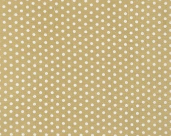 Spot On by Robert Kaufman - Small Spots Khaki - Sold by the yard