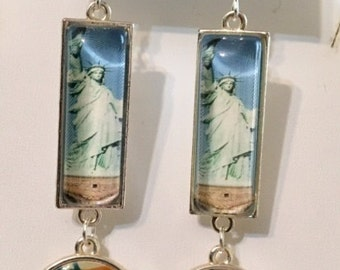 America the Beautiful Earrings