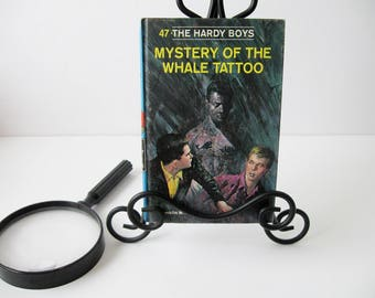 Hardy Boys Book #47, Vintage Hardy Boys Books Mystery of the Whale Tattoo by Franklin W. Dixon, Mystery Books For Teens 1960s, Book Decor