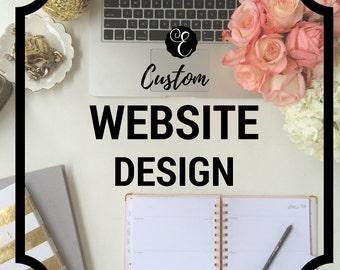 Custom Website Design Deposit - Website Re-Design   Wordpress   Squarespace