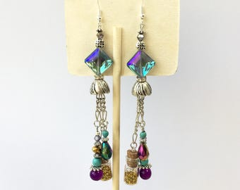 Earrings Swarovski crystal earrings 925 elegant earrings single couture creation