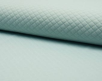 Quilted Jersey altmint quilt fabric by the metre small diamonds 0, 50 m