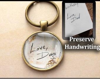 Custom, Made to Order Handwriting Key chain, Handwriting Key chain, Child's Handwriting, Loved One's Handwriting, Handwriting Charm,Memorial