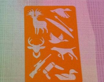 Oh deer! Hunting Stencil for bullet journal bujo planner bible art journaling