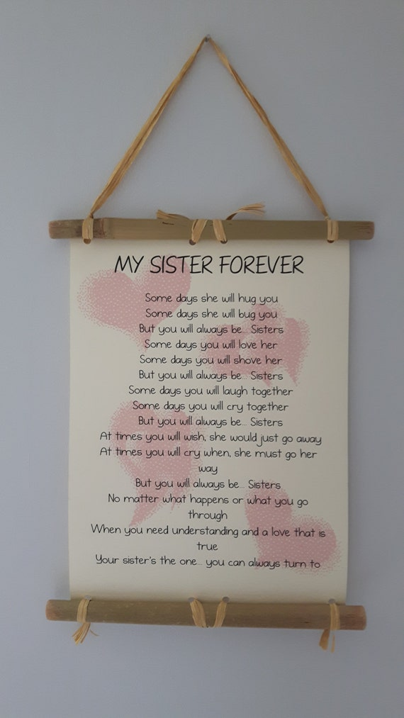 ... you Gift Sister, Birthday Gift For Sister, MOH Sister gift, Wedding