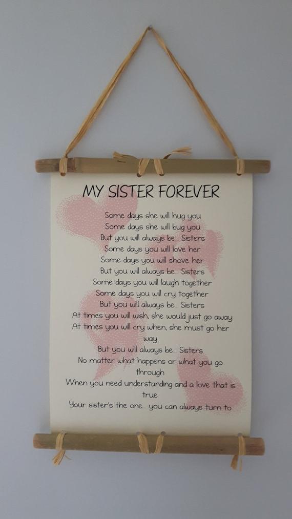 Wedding Presents For Sister Uk : ... you Gift Sister, Birthday Gift For Sister, MOH Sister gift, Wedding