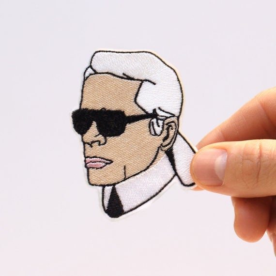 Karl Lagerfeld Patch - Iron On - Chanel Patch - Embroidery Patch