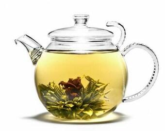 3 lavender blooming tea flowers, flower tea, Chinese tea, organic tea, vegan tea, relaxing tea, beautiful tea, tea flower, blooming tea,
