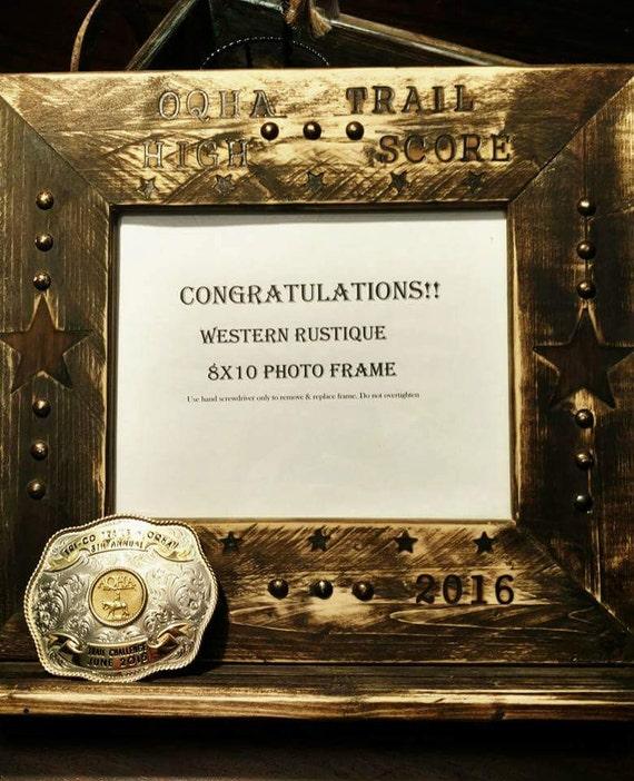 Western Decor Frames: Western Decor AWARD 8x10 Frame Buckle Shelf CUSTOMIZED With