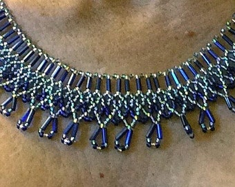 Blue Cleopatra Necklace