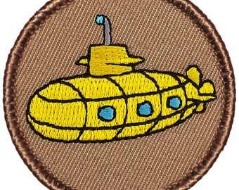 Yellow Submarine Patch (291) 2 Inch Diameter Embroidered Patch
