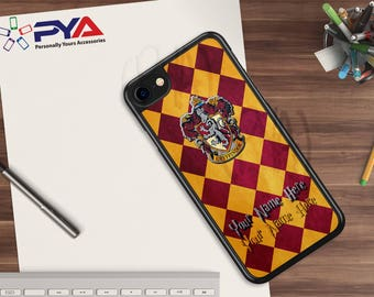 Harry Potter Phone Case - Personalized with a Name Gryffindor House Phone Case for Apple iPhone & iTouch Devices