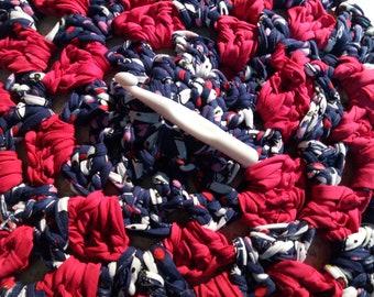 Round trapillo, round-neck t-shirt yarn rug carpet