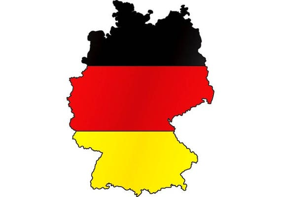Germany German Flag Map Shape Europe SVG EPS PNG Instant