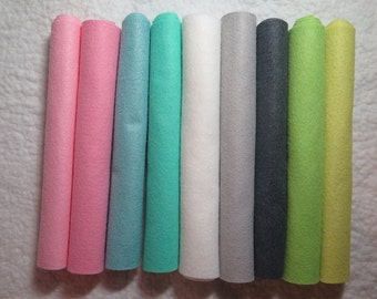 9 sheet wool blend felt collection, Simply Lovely color collection, choose 9 x 12 inch or 12 x 18 inch sheets