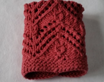 Pink Cable Knit Spa Cloth