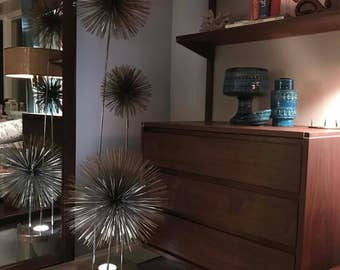 Curtis Jere Pom / Urchin Floor Lamp Sculpture