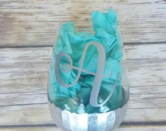 Personalized Stemless Wineglass