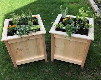 rustic box planters wood planter wood box planter outdoor planter flower box