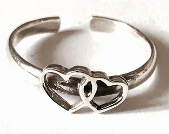 Sterling Silver Double Love   Heart