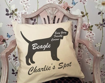 Personalised BEAGLE Dog Cushion or Pet Bed