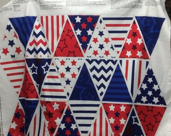 30 PREPRINTED FLAGS/ Bunting/ For Banners/ Patriotic/ 4th of July/ Panel