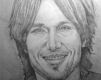 Keith Urban pencil drawing