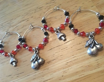 Wine Glass Charms - Cherry's & Toadstalls