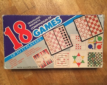 1980's Complete  18 Traveling Magnetic  Compendium Games by Cathay No 8365