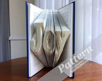 JOY Book Folding Pattern -- 150 folds (300 numbered pages)