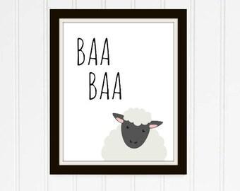 Baa Farm Printable