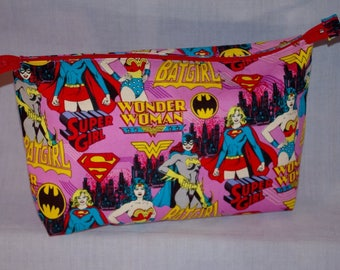 Girl/Women Superheroes Zippered Bag